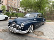 Vladivostok, Russia, May, 18, 2019. Exhibition of American retro-cars. Buick Road Master 1950 year of manufacture. Vladivostok, Ad. Vladivostok, Russia stock image