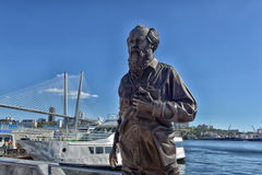 Vladivostok, Russia .  The monument to Alexander Isayevich Solzhenitsyn Stock Images