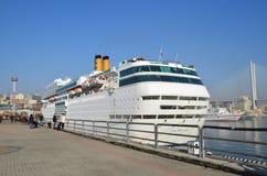 Vladivostok, Russia, October, 25, 2017. Cruise ship Costa Romantica docked in Vladivostok. Vladivostok, Russia, cruise ship Costa Romantica docked in Vladivostok Royalty Free Stock Photo