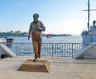 Vladivostok, Russia, September, 02, 2015. The monument to Alexan. VLADIVOSTOK, RUSSIA - SEP 2, 2015: The monument to Alexander Isayevich Solzhenitsyn on the Stock Image