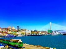 Vladivostok sikt royaltyfria bilder
