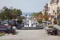 Vladivostok, street Fokina , Russia Royalty Free Stock Photos