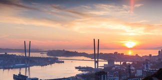Vladivostok, sunset. Royalty Free Stock Photography