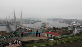 Vladivostok tijdens de top van APEC in September   Royalty-vrije Stock Afbeeldingen