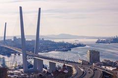 Vladivostok, une ville sur la mer Image libre de droits