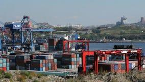 Vladivostok van de overzeese de activiteit handelhaven stock footage