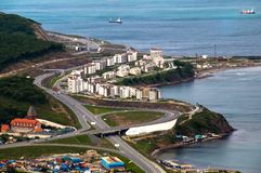 Vladivostok. View of the city from high Stock Photography