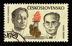 Vlado Clementis и Karol Smidke, бойцы против нацизма и fa стоковое изображение rf