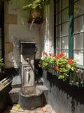 Vlaekensgang alley in Antwerp, Belgium Royalty Free Stock Images