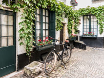 Vlaeykensgang alley in Antwerp, Belgium Stock Image