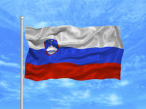 Vlag 1 van Slovenië Royalty-vrije Stock Afbeelding