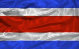 Vlag 3 van Costa Rica Stock Foto's