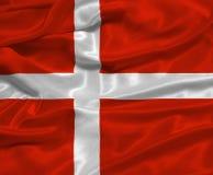 Vlag 3 van Denemarken Stock Fotografie