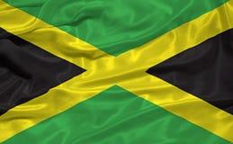 Vlag 3 van Jamaïca royalty-vrije illustratie