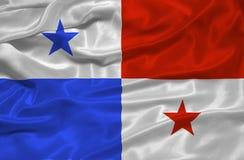 Vlag 3 van Panama Stock Foto