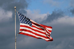 Vlag 3 van Verenigde Staten Royalty-vrije Stock Foto's
