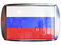 Vlag aan Rusland Royalty-vrije Stock Foto's