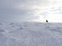 Vlag in Antarctica royalty-vrije stock afbeelding