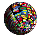 Vlag-behandelde aarde - mening Polar5 Stock Afbeelding