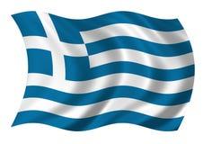 Vlag de Helleense van de Republiek (Griekenland) vector illustratie