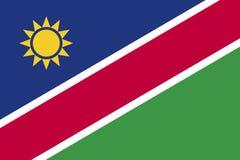 Vlag de Vectornamibië vlag van van Namibië, Royalty-vrije Stock Afbeelding