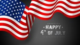 Vlag de Verenigde Staten van Amerika Vector Stock Foto