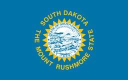 Vlag de Zuid- van Dakota Vector illustratie De Verenigde Staten van Amerika vector illustratie