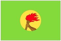 Vlag: Democratische Republiek de Kongo Stock Afbeeldingen