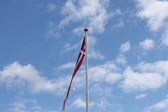 Vlag Denemarken Royalty-vrije Stock Foto's