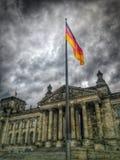 Vlag in Deutscher Bundestag Royalty-vrije Stock Afbeeldingen