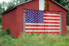 Vlag die op Schuur wordt geschilderd Royalty-vrije Stock Fotografie