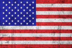 Vlag Doorstane van de V.S. van Grunge de Vuile en Amerikaanse) ( Stock Afbeeldingen