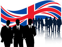 Vlag en mensen Royalty-vrije Stock Foto