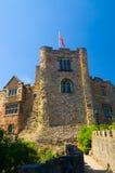 Vlag en toren van het kasteel Royalty-vrije Stock Foto