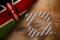 Vlag en zegel in Kenia wordt gemaakt dat stock afbeelding