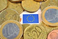 Vlag euro Unie Royalty-vrije Stock Fotografie