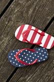 Vlag gevormde leren riemschoenen Royalty-vrije Stock Fotografie