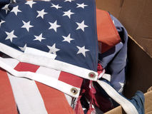 Vlag het Branden Ceremonie Stock Afbeelding