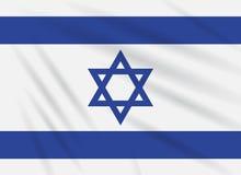 Vlag Israël die in wind, realistische vector slingeren stock illustratie
