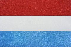 Vlag Luxemburg Royalty-vrije Stock Foto's