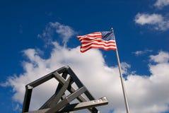 Vlag met Art. Stock Foto