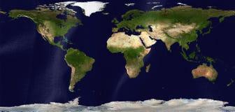 Vlag met kaart van het land en de continenten stock illustratie
