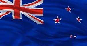 Vlag ofNew Zeeland op zijde, 3d illustratie royalty-vrije illustratie