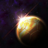 Vlag op 3d voetbalillustratie Stock Afbeelding