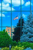 Vlag op Glas Stock Fotografie