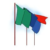 Vlag op Pool Royalty-vrije Stock Afbeeldingen