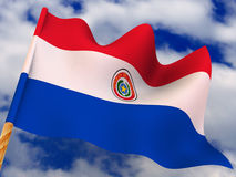Vlag. Paraguay Stock Afbeeldingen