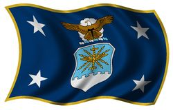 Vlag SECAF Royalty-vrije Stock Afbeeldingen