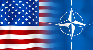 Vlag V.S.-NAVO stock illustratie