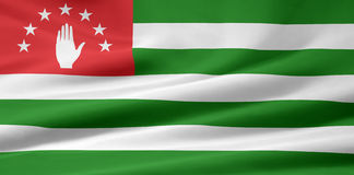 Vlag van Abchazië Stock Foto's